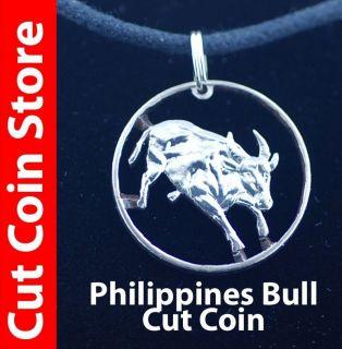 Tamaraw Bull Cut Coin Store pendant necklace Mindoro Dwarf Buffalo