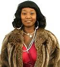Full Length Let Out Muskrat Fur Swing Coat Extra Long Plus Size Brown