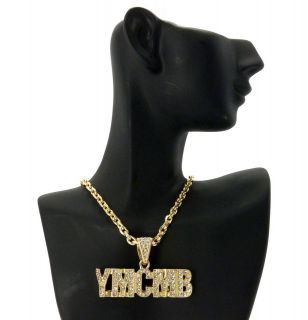 YMCMB YOUNG MONEY CASH MONEY PENDANT 4mm &18 LINK CHAIN NECKLACE MZ68