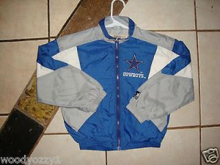 YOUTH NFL DALLAS COWBOYS STARTER FULL   ZIP JACKET SMALL WITH TWO