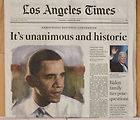 LOS ANGELES TIMES NEWSPAPERS PRESIDENT BARACK OBAMA JAN 21 2009