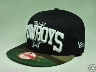 NEW ERA Hat Cap 9fifty NFL Dallas Cowboys black camoflage Snapback 950