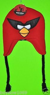 ANGRY BIRDS BEANIE RED BIRD LAPLAND LAPLANDER EAR FLAP KNIT BEANIE HAT