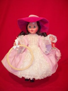 VINTAGE 17 FURGA DOLL ITALY PINK DRESS ORIGINAL AWESOME SHAPE ADULT