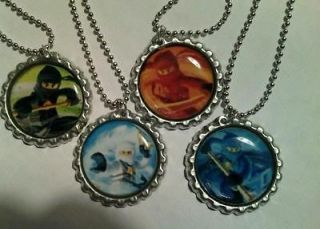 Set of 4 New Lego Ninjago Necklace birthday party favors