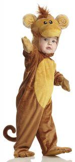 brown MONKEY toddler jungle plush kids boys girls costume toddler L 2T
