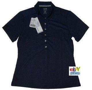 Sz M   NEW $65 Adidas GOLF AdiPURE Womens Shadow Stripe Polo Shirt