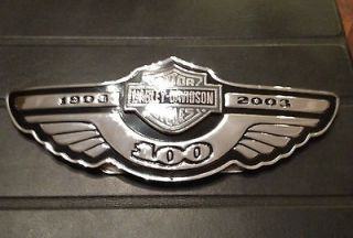 Harley Davidson 100th Anniversary Tank Emblems/Badges Chrome Multi Fit