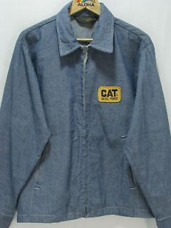 VTG Permanent PressCat Diesel Power Chambray Work Shirt Made in USA