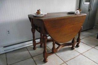 English oak 1905 gateleg drop leaf table