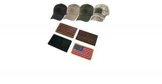 Special Forces Operator Tactical Cap , Hat With American Flag Patch