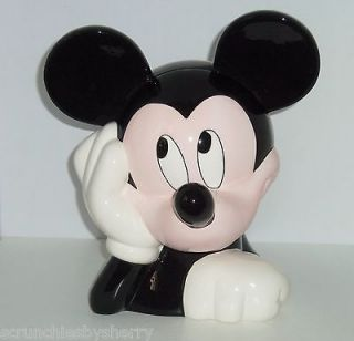 Mickey Mouse Head Cookie Jar Treasure Craft Vintage Pfaltzgraff NIB