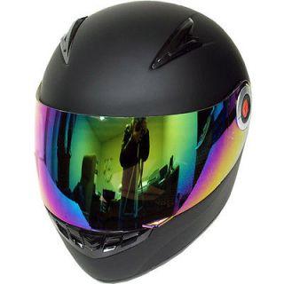 New Youth Kids Motorcycle Full Face Helmet Matt Black Size S M L XL
