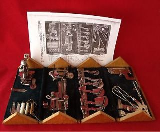 ORIGINAL SINGER TREADLE SEWING MACHINE PUZZLE BOX, COMPLETE, GOOD