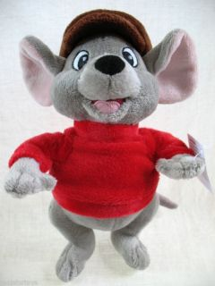 Disneys The Rescuers BERNARD 8 Plush Figure NEW