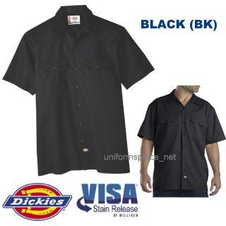 Dickies Mens SHORT SLEEVE Work Shirt Nwt S   6XL BLACK