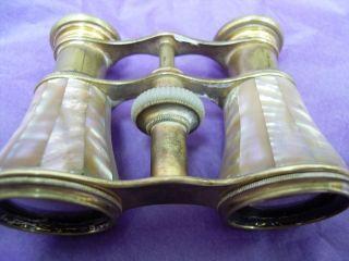 SOCLETE DOPTIQUE PARIS Opera Glasses Mother Of Pearl Binoculars