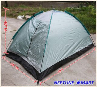 Outdoor Silver Camping Tent 2 Man Ultralight w/bag