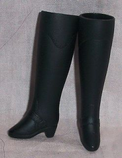 Barbie Doll Shoes Black Knee High Horse Riding Boots