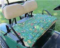 Golf Cart Seat Cover, Golf Balls Print, Green Background