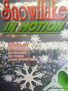 IN MOTION INDOOR OUTDOOR LIGHTED CHRISTMAS YARD DECORATION w/48 LIGHTS