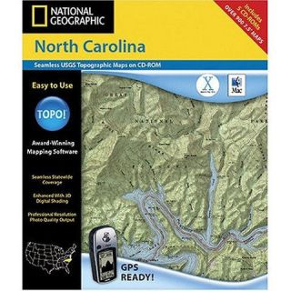National Geographic TOPO Outdoor Recreation Mapping Software  N C (c