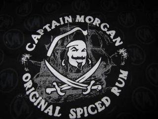 New Captain Morgan Mens Black Rum Boxer Shorts XXL Pajamas 2X