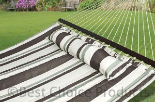 Hammock Quilted Fabric With Pillow Double Size Spreader Bar Heavy Duty