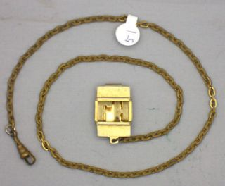 18.5 Inch Pocket Watch Solid Brass Chain With A Belt Loop With The