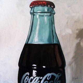 Old COCA COLA bottle still life art Original Oil Painting by L. Apple