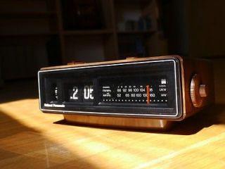 Panasonic Flip Clock Vintage Radio Eamaes Danish Howard
