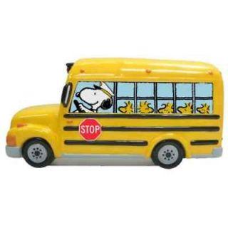 PEANUTS Gang Snoopy School Bus BANK piggy bank Charlie Brown