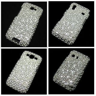 Pear & Bling Crystal Diamond Rhinestone Snap On Back Hard Back Case