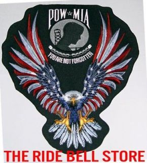 AMERICAN EAGLE POW * MIA Motorcycle Vest BACK PATCH Biker Patches