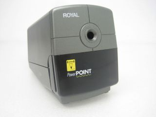 Royal Power Point Auto Stop Electric Office Desk Pencil Sharpener