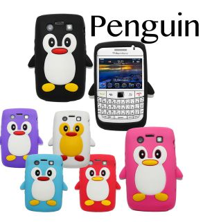 9790 Cute Penguin For BlackBerry Bold 9790 Soft Silicone Case Back