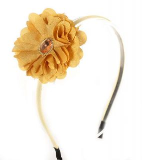 New fashion style VIVID Color Fabric Flower Accent Headband Hair Piece