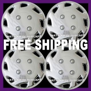 Trailer Boat Motorcycle Tent Camper Hub Caps Full Cover Chrome Wheels