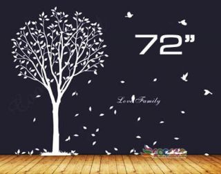 tree wall decal white in Decals, Stickers & Vinyl Art
