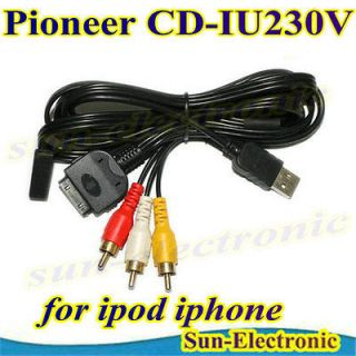 PIONEER CD IU230V for iphone ipod ipad ADAPTER CABLE AVIC F700BT AVIC