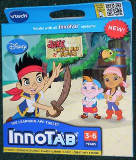 NEW Vtech InnoTab Learning Game Cartridge   JAKE NEVERLAND PIRATES