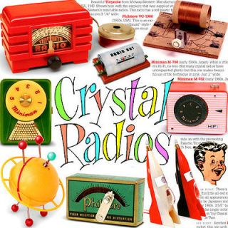 TOY CRYSTAL RADIOS Volume ONE    terrific FULL COLOR book of vintage