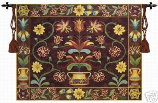 Beautiful Flower Pot Tapestry Wall Hanging, 54x42