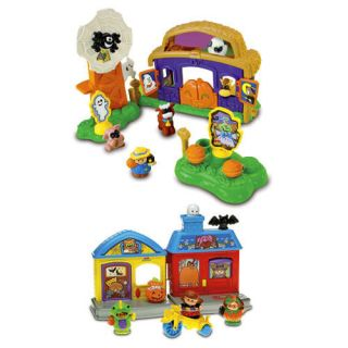 NEW~ Fisher Price LITTLE PEOPLE 2 Halloween Playsets~Pumpk​in Party