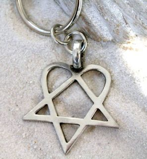 HEARTAGRAM HIM Pewter KEYCHAIN Key Ring KEY CHAIN FOB