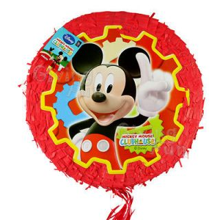 Disney Mickey Mouse 18 Pull String Pinata Birthday Party Supplies