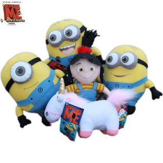 Despicable Me 9 Stuffed 3D Minions Unicorn Agnes 5x Plush Toy