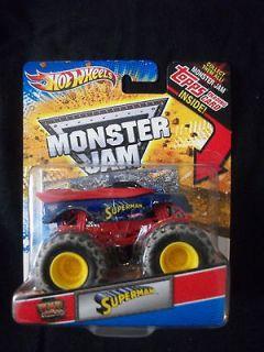 Hot Wheels 2010 Monster Jam SUPERMAN   MUD trucks   Topps Trading Card