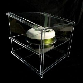 NEW ACRYLIC CUPCAKE SNEEZE GUARD DISPLAY CABINET STAND
