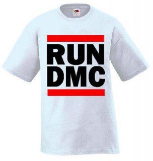 RUN DMC T shirt, Hip hop, rap/vintage style Tee (White)(4XL)~